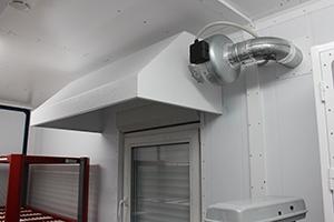Фото металлической вытяжной системы