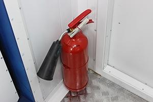 Фотография огнетушителя в мастерской