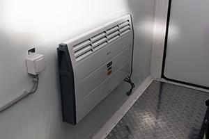 Фотография системы отопления в контейнере