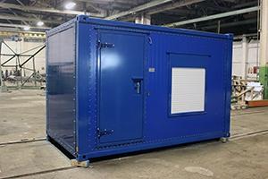 Фото контейнера с ДГУ-200 кВт вид спереди