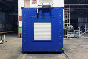 Контейнер с ДГУ-200 кВт вид сбоку