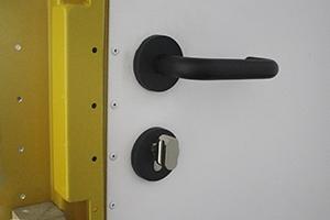 Ручка двери с замком внутренний вид