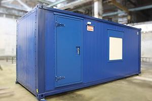 Фото блок-контейнера для ДГУ вид сбоку
