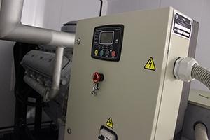 Фото панели управления генератора
