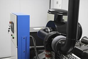Общий вид установленного дизельного генератора