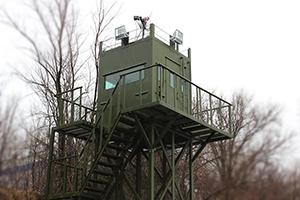 Фотография бронированной наблюдательной кабины вышки ВН-2