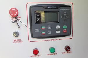 Фото панели управления установленной в контейнере для ДГУ