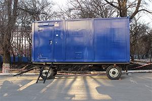 Передвижной блок-контейнер вид сбоку