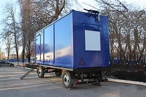 Фото блок-контейнера с ДГУ