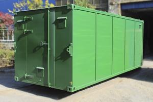 Вид сбоку контейнера для хранения оружия (КХО)