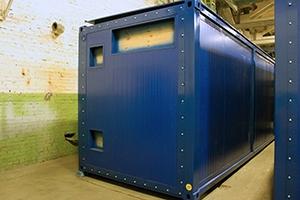 Быстросъемная боковая панель контейнера