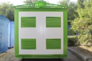 Контейнер для трансформаторных станций вид спереди