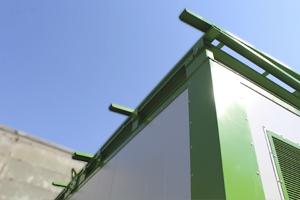 Фотография металлической опоры контейнера