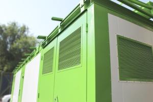 Фотография металлических дверей контейнера