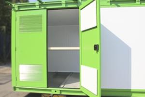 Фотография контейнера сбоку в открытом виде