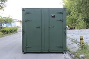 Фото входной двери контейнера КХО
