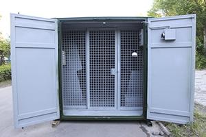 Фото раздвижной двери контейнера КХО