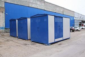 Фото контейнеров трансформаторной подстанции производства компании РМЗ