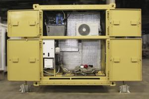 Внутренний вид агрегатного отсека кухонного модуля
