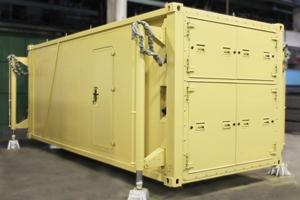 Кухонный модуль на базе кузов-контейнера вид сбоку