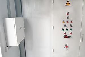 Панель управления металлическим контейнером