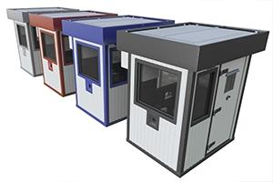 Разнообразные цветовые решения модульных КПП фото